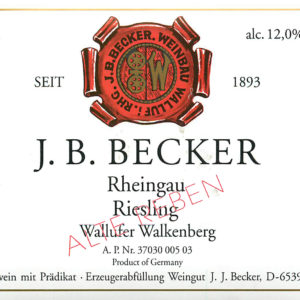 Becker Walkenberg Alte Reben